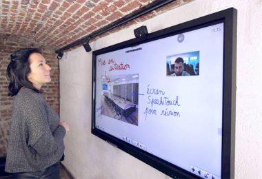 ecran interactif visioconf